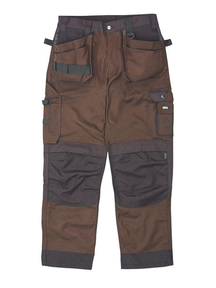 """Site Mastiff Trousers Khaki 40"""" W 32"""" L"""