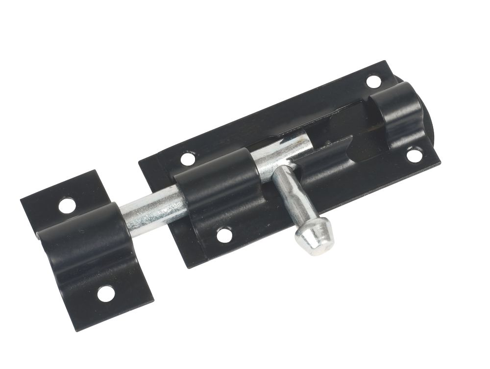 Tower Gate Bolt Black 80mm