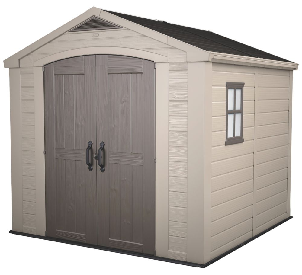 Keter Apex Shed Plastic 8 x 8 x 8' (Nominal)