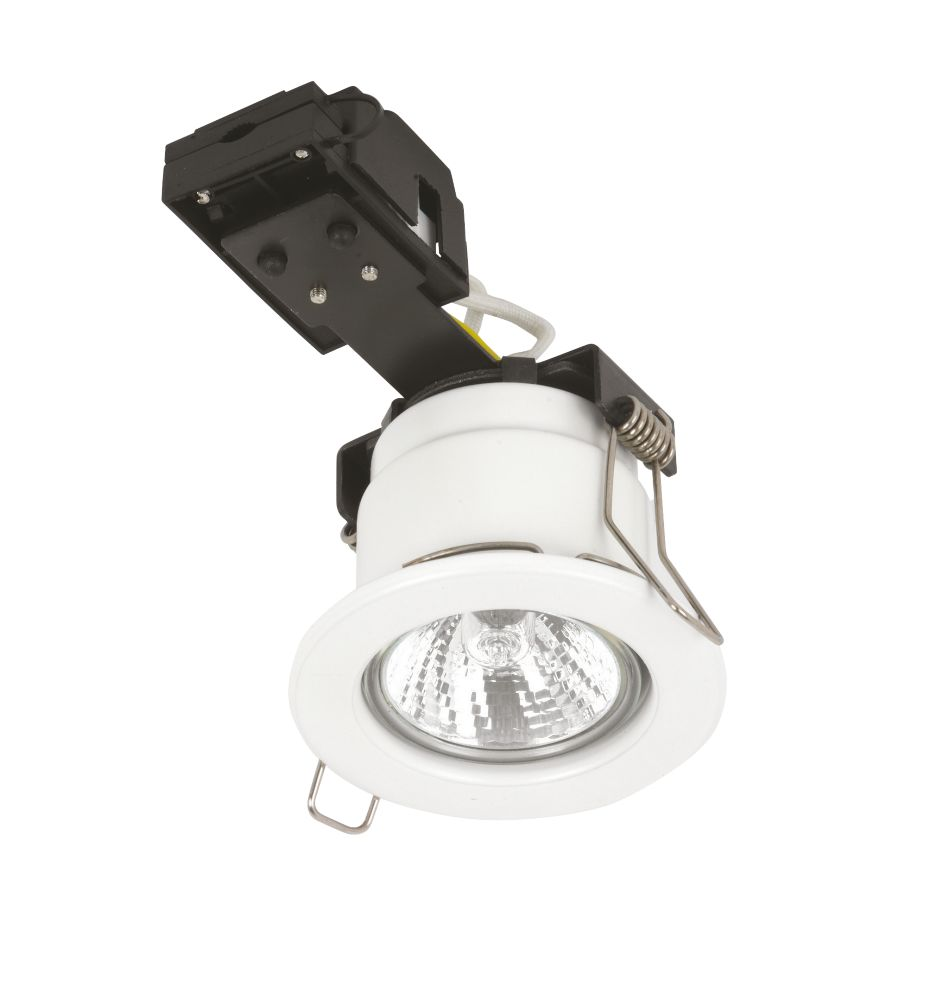 Sylvania Fixed Round White Mains Voltage Fire Rated Downlight 240V