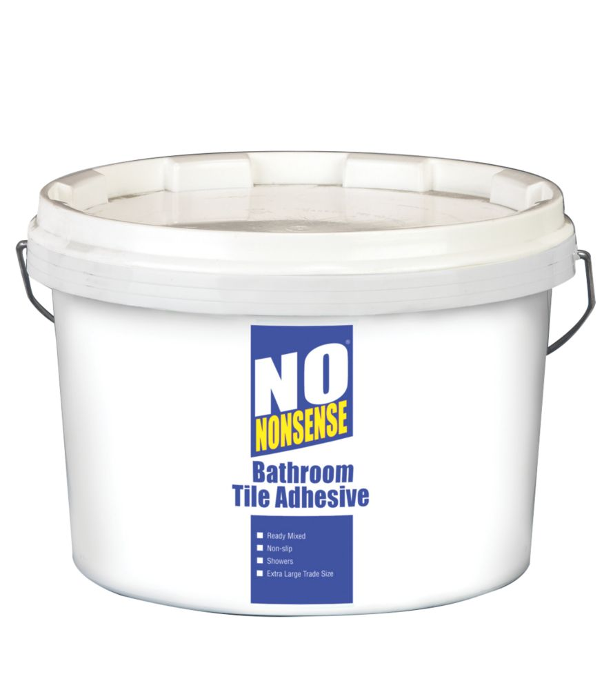 No Nonsense Bathroom Tile Adhesive White 12Ltr