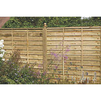 Larchlap Solway Fence Panels 1.8 x 1.8m 5 Pack