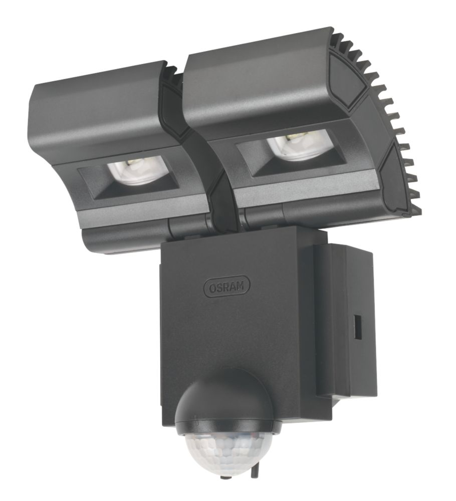 Osram Noxlite LED Twin Spotlight with Sensor 2 x 8W Black