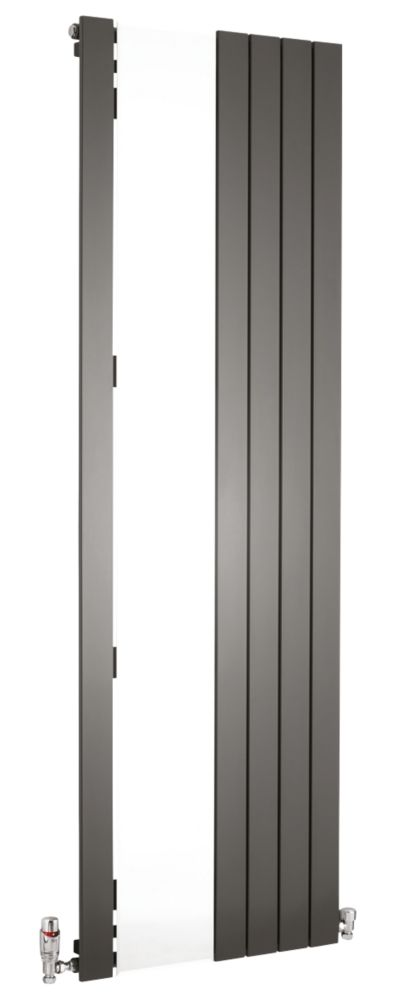 Oceanus Mirror Vertical Designer Radiator Anthracite 1800 x 595mm 2610BTU