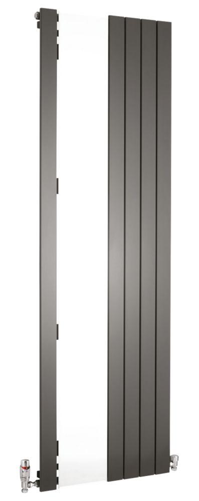 Oceanus Mirror Vertical Designer Radiator Anthracite 1800 x 595mm 2610BTU