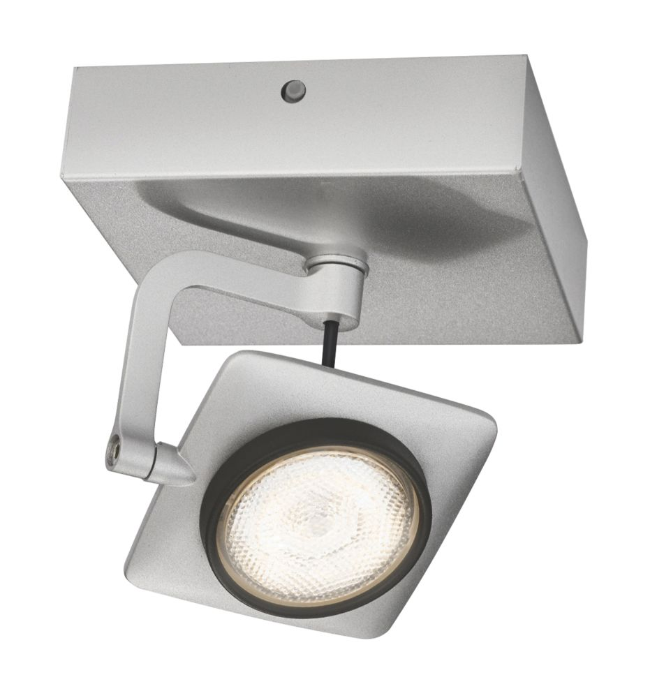 Philips Millennium LED Wall Spotlight Silver 5W 220-240V LED Wall Lights Screwfix.com