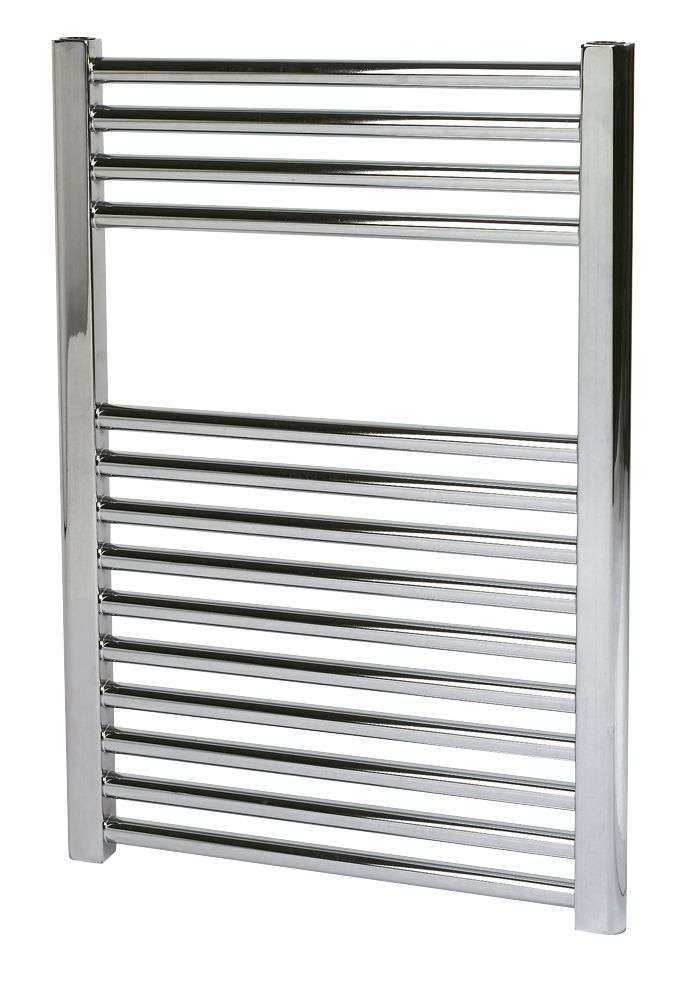 Kudox Flat Towel Radiator Chrome 700 x 500mm 223W 761Btu