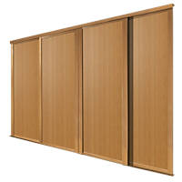 Spacepro 4 Door Panel Sliding Wardrobe Doors Oak 2390 x 2260mm 4 Pack