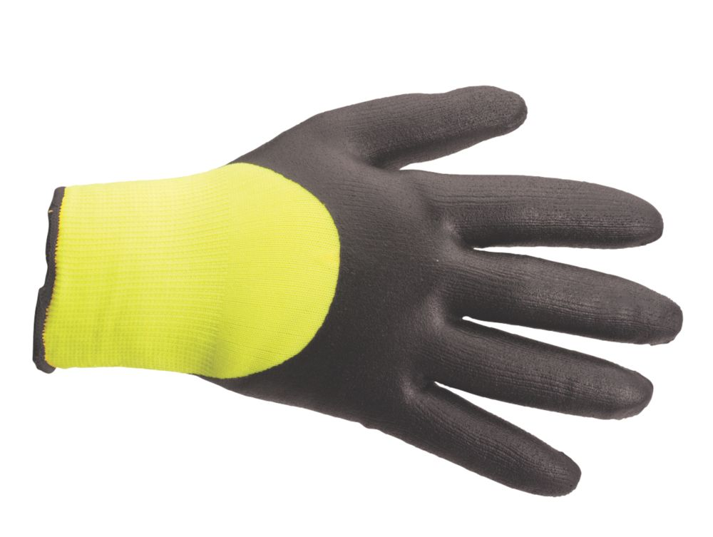 Secure Handling Arctic Winter Gloves Yellow / Black X Large