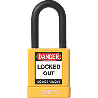 Abus Aluminium Keyed-Alike Lock-Off Padlock Yellow 19 x 38mm