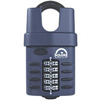 Squire Die-Cast Steel Combination Closed Shackle Padlock Blue 60mm