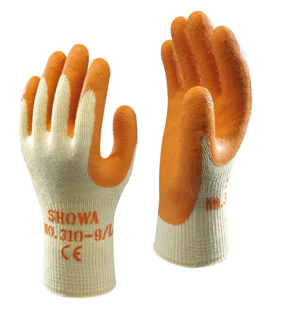 Showa Best 310 General Handling Original Builders Gloves Orange Large