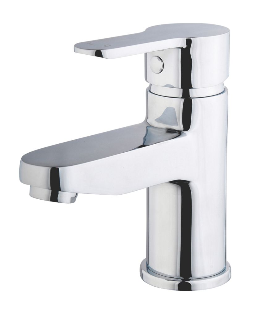 Swirl Elevate Eco Mono Basin Mixer Bathroom Tap with Pop-Up Waste