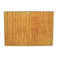 Forest Feather Edge Fence Panels 1.8 x 1.2m 4 Pack