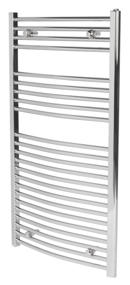 Curved Chrome Towel Rail 1100mm x 600mm