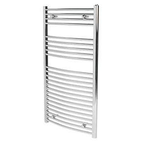 Curved Chrome Ladder Towel Radiator 1100 x 600mm