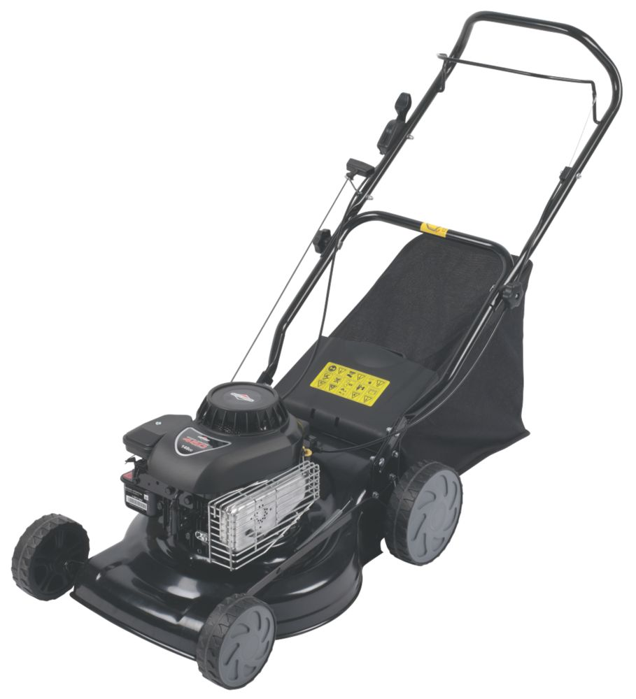 40cm 3hp Push Rotary Petrol Lawn Mower w. Briggs & Stratton Engine