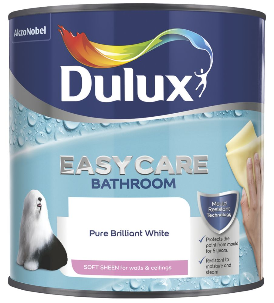 Dulux Bathroom+ Soft Sheen Paint Pure Brilliant White 2.5Ltr