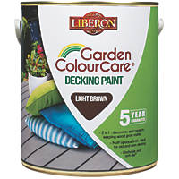 Liberon Decking Paint Light Brown 2.5Ltr