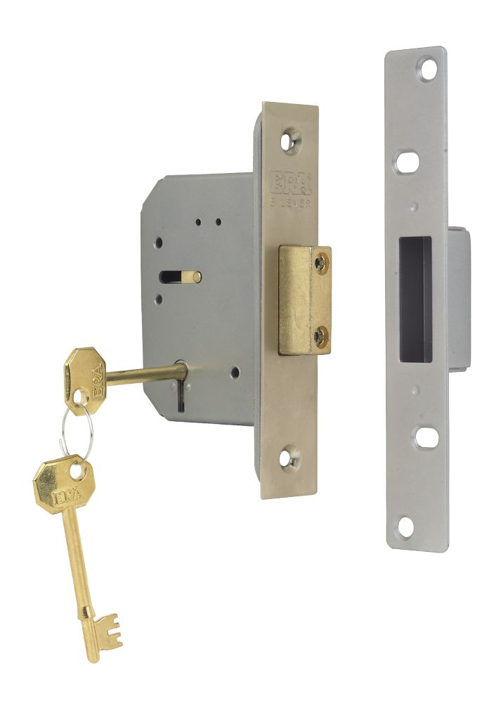 "ERA 5-Lever Mortice Deadlock Steel Satin Nickel 2½"" (64mm)"