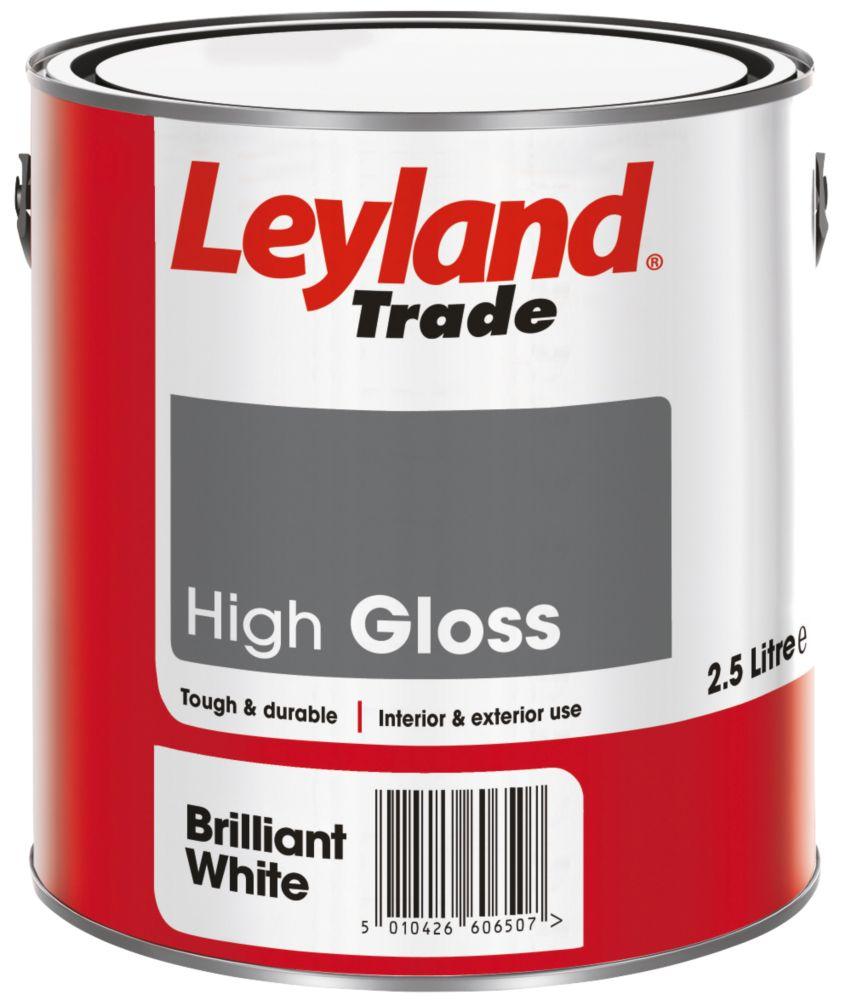 Leyland Gloss Paint Brilliant White 2.5Ltr
