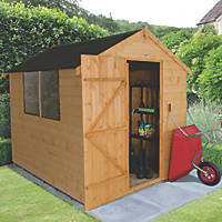 Forest 6' x 8' (Nominal) Apex Shiplap Timber Shed with Base & Assembly