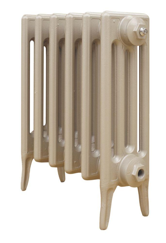 Cast Iron 460 Designer Radiator 4-Column Bronze H: 460 x W: 521mm