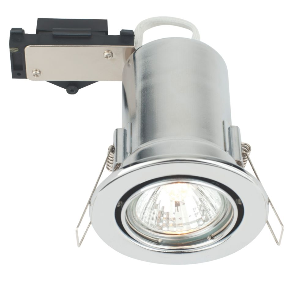 LAP Adjustable Round Mains Voltage Fire Rated Downlight Pol. Chrome 240V