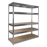 RB Boss Galvanised Boltless Freestanding Shelving 5-Tier