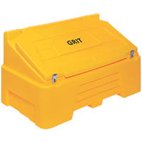 Lockable Grit / Salt Bin Yellow 400Ltr