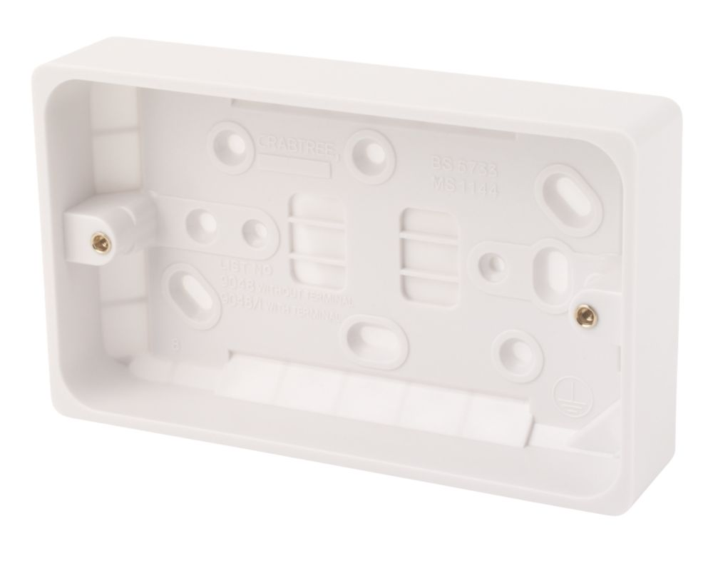 Crabtree 2-Gang 29mm Moulded Box