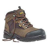 Site Onyx  Safety Boots Brown Size 12