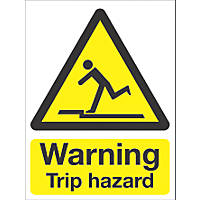 """Warning Trip Hazard"" Sign 210 x 148mm"