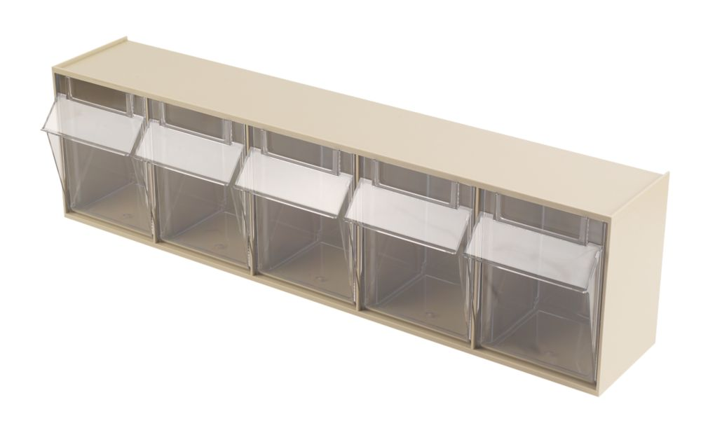 Wall Mounted Clearbox 5 Compartment Unit