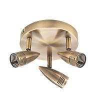Milano 3-Light Circular Spotlight Antique Brass