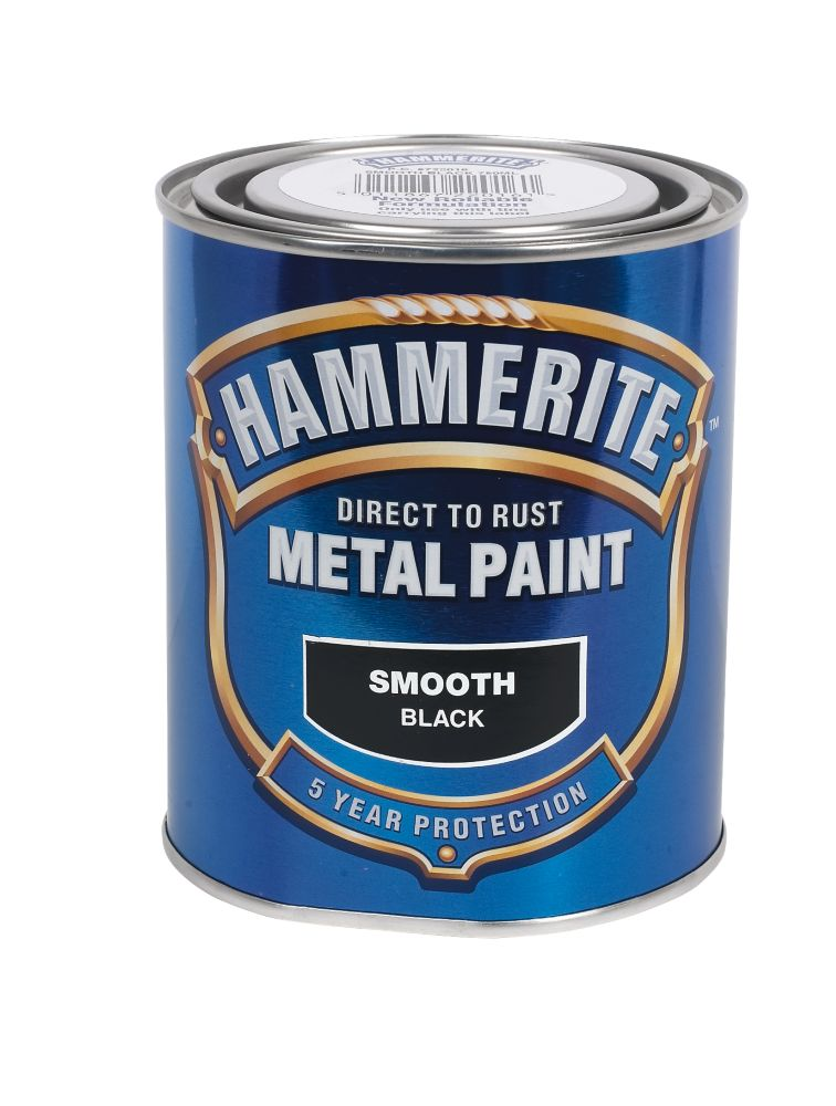 Hammerite Metal Paint Smooth Black 750ml