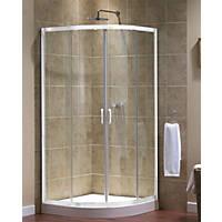 Aqualux  Quadrant Shower Enclosure  White 800 x 800 x 1850mm