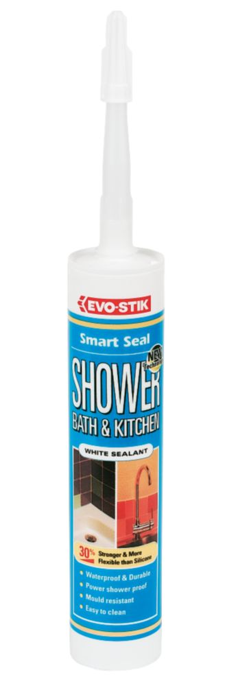 Evo-Stik Shower Bath & Kitchen Sealant White 310ml
