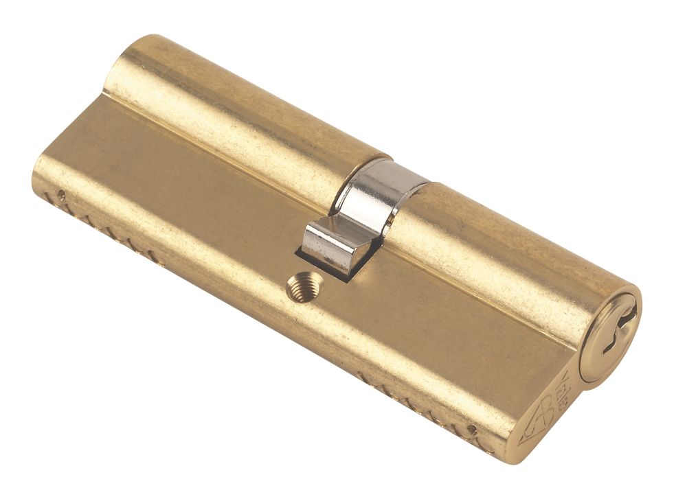 Yale KM Series Euro Double Cylinder Lock 40-50 (90mm) Polished Brass