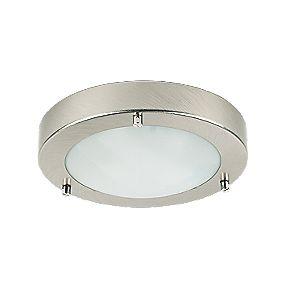 Portal Brushed Chrome Bathroom Ceiling Light G9