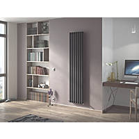 Ximax Fortuna Vertical Single-Panel Designer Radiator Anthracite 1800 x 410mm