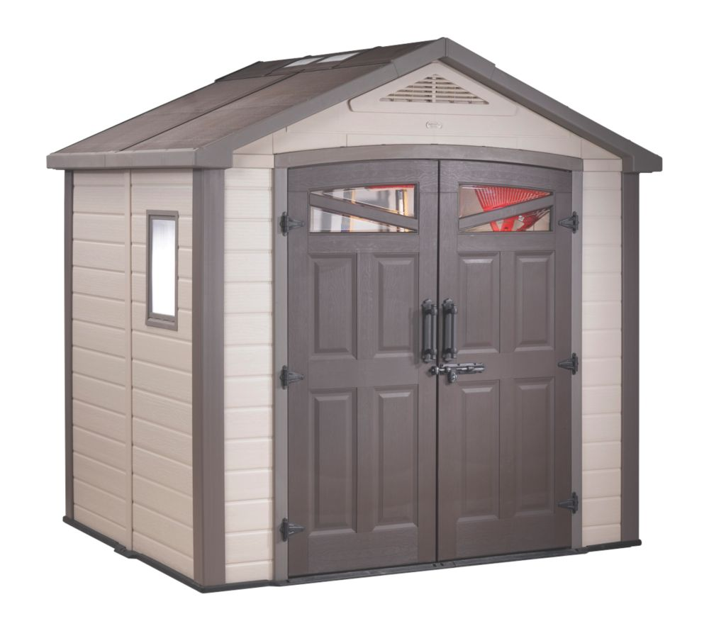 Keter Bellevue Apex Shed Plastic 8 x 6 x 8' (Nominal)
