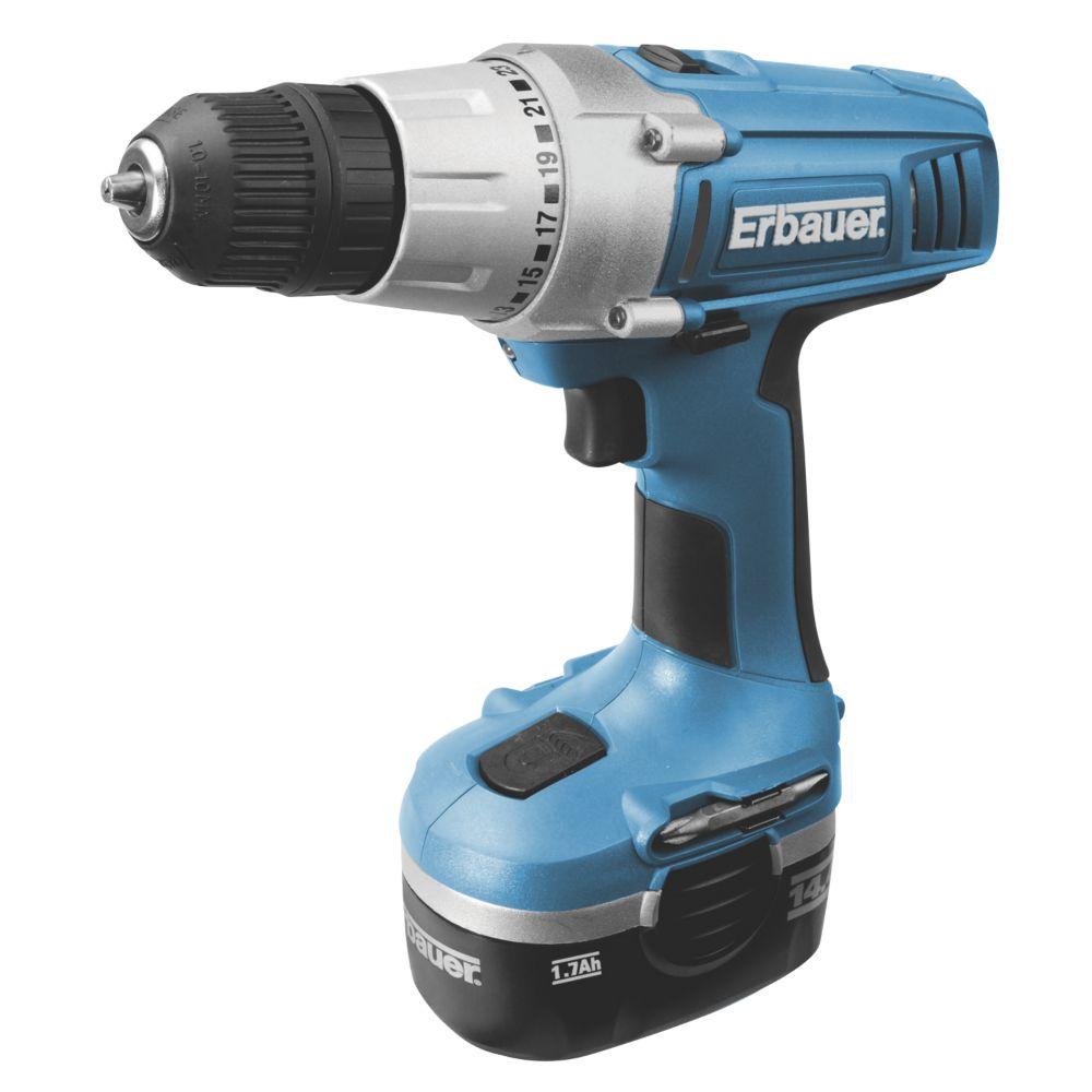 Erbauer ERD182DDH 14V 1.7Ah Ni-Cd Cordless Drill Driver