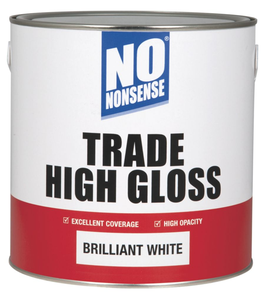 No Nonsense Trade High Gloss Brilliant White 2.5Ltr