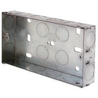LAP Installation Boxes Galvanised Steel 2 Gang 25mm Pack of 10