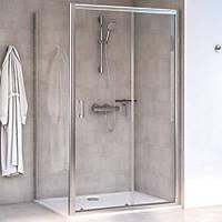 Aqualux Shine 6 Rectangular Shower Enclosure LH/RH Polished Silver 1000 x 760 x 1900mm