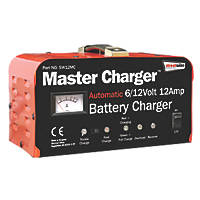 Streetwize SW12MC 12A Heavy Duty Metal-Cased Battery Charger 6/12V