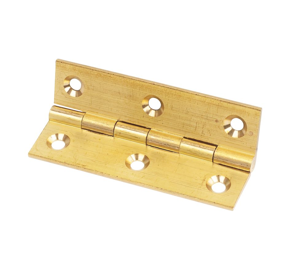 Solid Drawn Brass Hinge Self Colour 76 x 41mm Pack of 20