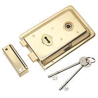 Eurospec Rim Lock Polished Brass 155 x 105mm