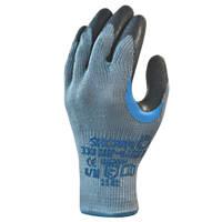 Showa 330 Reinforced Grip Gloves Grey Medium